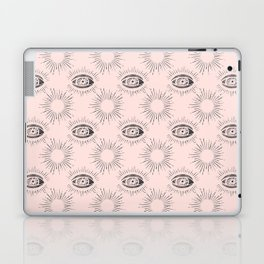 Sun and Eye of wisdom pattern- Pink & Black- Mix & Match with Simplicity of Life Laptop & iPad Skin