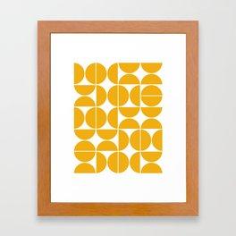 Mid Century Modern Geometric 04 Yellow Framed Art Print