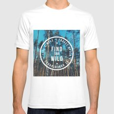 find your wild MEDIUM Mens Fitted Tee White