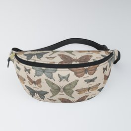 Butterflies and Moth Specimens Fanny Pack