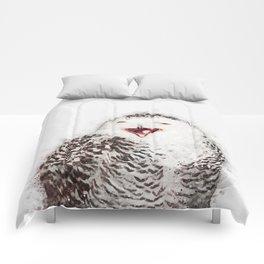 Happy Owl Watercolor Comforters