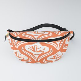 Calla Lily Pattern Orange Fanny Pack