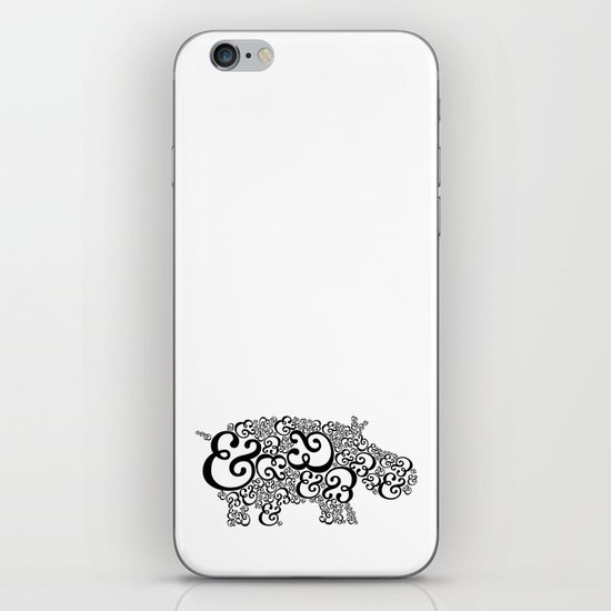 Ampersand Hippo iPhone & iPod Skin