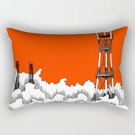 San Francisco - Sutro Tower (red sky) Rectangular Pillow