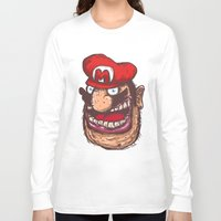 super mario Long Sleeve T-shirts featuring Mario by Lime