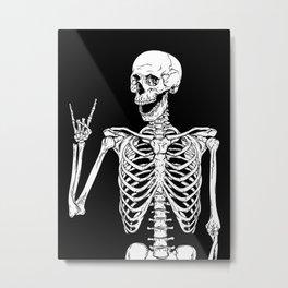 Rock and Roll Skeleton Metal Print