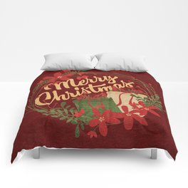 Holiday Greetings Comforters