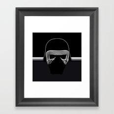 the new villain's helmet, kylo ren Framed Art Print