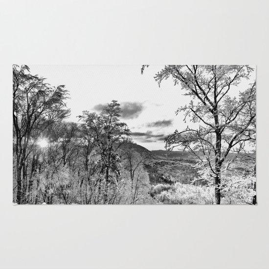 Vermont Winter Landscape Rug