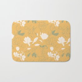Magnolia flowers Bath Mat