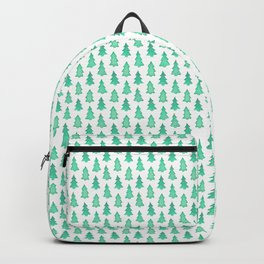 Christmas Trees With One Decorated Tree Backpack