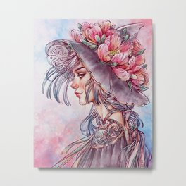 Spring Wind Witch Metal Print