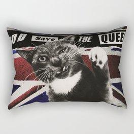 God Save The Queen Cat Rectangular Pillow