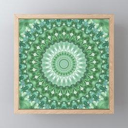 Emerald Green Mandala Framed Mini Art Print
