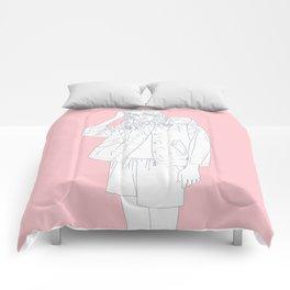 tired girl Comforters