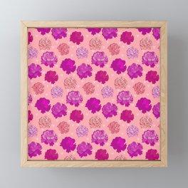 Romantic Pink Peonies Framed Mini Art Print