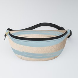 Painted Stripes Gold Tropical Ocean Sea Blue Fanny Pack
