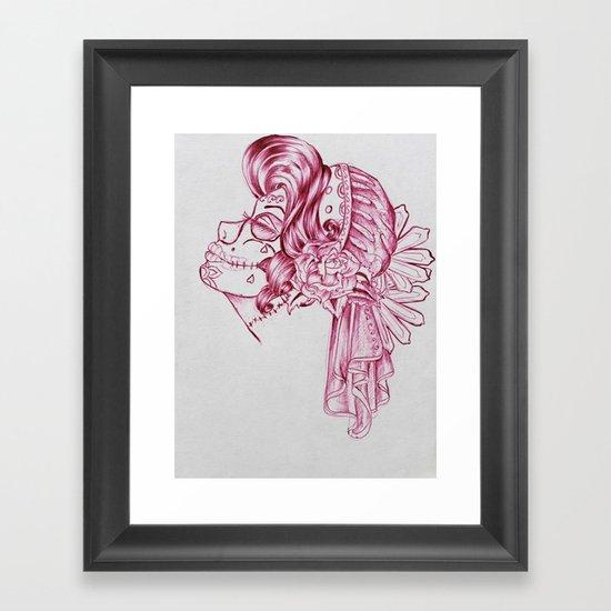 Red Mirror Gypsy Framed Art Print