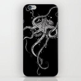 Octopus (black) iPhone Skin