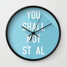 The Eighth Commandment Wall Clock