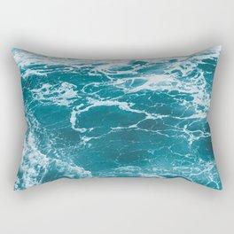 Tropic Beach Ocean Waves Rectangular Pillow