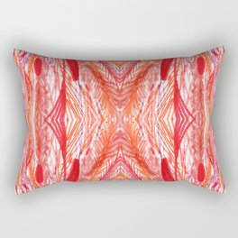 Vintage Rose Woven Abstract Rectangular Pillow