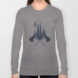 Axes. Double Exposure Long Sleeve T-shirt