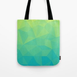 Abstract Geometric Gradient Pattern between Soft Green and Strong Cyan Tote Bag