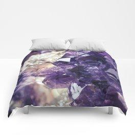 Crystal gemstone - ultra violet Comforters
