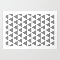 Sleyer Grey on White Pattern Art Print