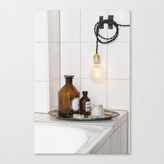 White Tiles  Canvas Print