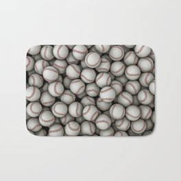 Baseballs Bath Mat