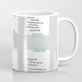 Setlists of the Fab Four Coffee Mug