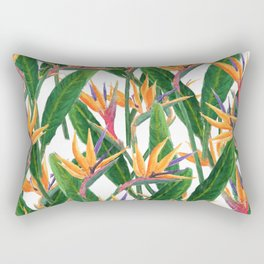 bird of paradise pattern Rectangular Pillow