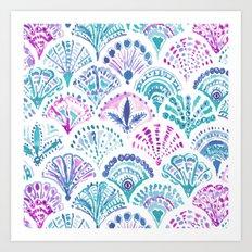 SHELL OUT Boho Mermaid Scales Art Print