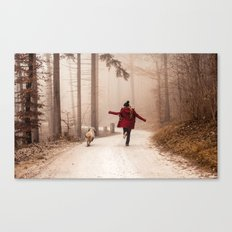 Red Riding Hood And The Big Bad Wolf Canvas Print