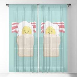 Morning Breakfast Sheer Curtain