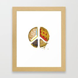 Pie of peace Framed Art Print