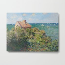 Fisherman's Cottage at Varengeville by Claude Monet Metal Print