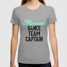 Mermaid Dance Team Captain Tri-Grey MEDIUM Womens Fitted Tee