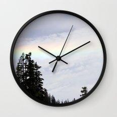 Mountaintop Rainbow Wall Clock