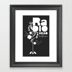 Radiohead song - Last flowers illustration white Framed Art Print