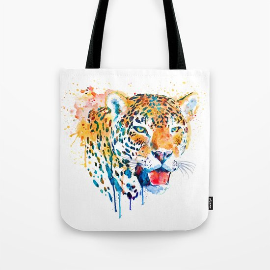 Leopard Head Portrait Tote Bag