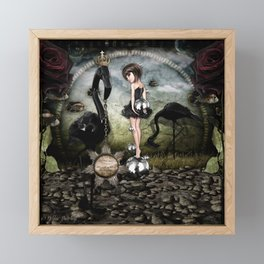 Walking on Bubbles Framed Mini Art Print