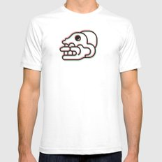 Monkey Skull - Aztec Glyph Mens Fitted Tee White SMALL