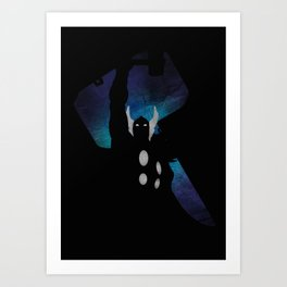 SuperHeroes Shadows : Thor Art Print