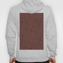 Circle Swirl Pattern Dark Rich Red, Inspired By Dunn Edwards Spice of Life DET439 Hoody
