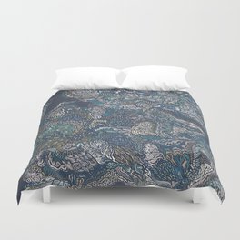 Under the surface lies the truth. Duvet Cover