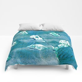 Floral Relief Comforters