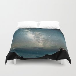 Our Home in Space Duvet Cover